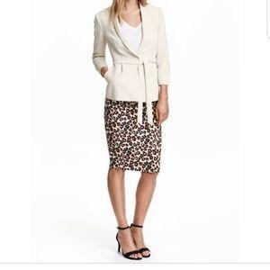 NEW H&M Leopard Midi Pencil Skirt